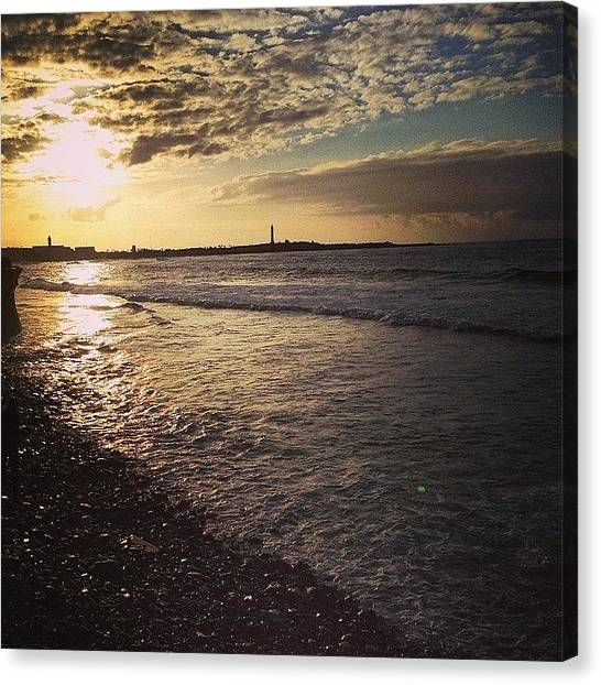 Ocean Life Canvas Print - Sunset In Casablanca. #casablanca by Blogatrixx