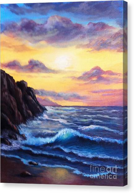 Sunset In Colors Canvas Print