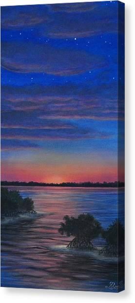 Sunset In Islamorada Canvas Print by J Barth