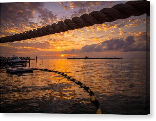 Sunset In Key West Canvas Print