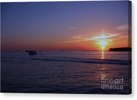 Sunset In Keywest Canvas Print