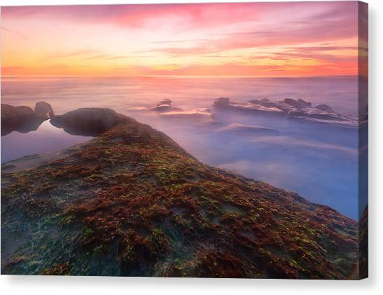 Sunset In La Jolla Canvas Print