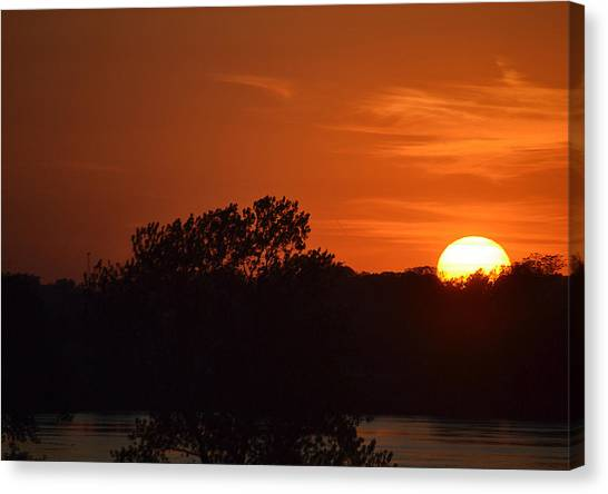 Sunset In Music City Canvas Print by Joe Bledsoe
