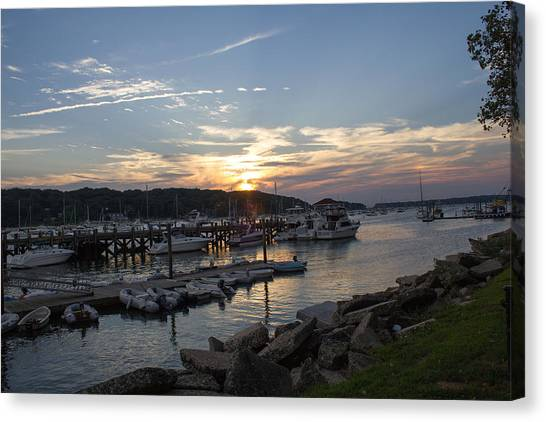 Sunset In Northport Canvas Print