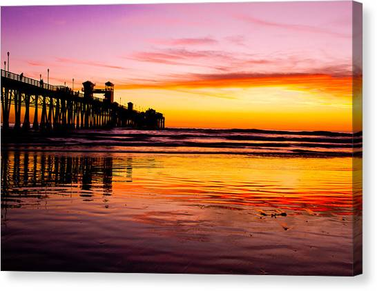 Sunset In Oceanside Canvas Print