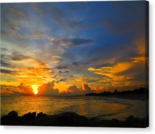 Scuba Diving Canvas Print - Sunset In Paradise - Beach Photography By Sharon Cummings by Sharon Cummings