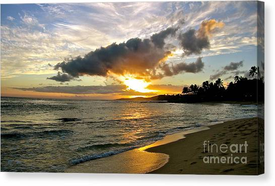 Sunset In Paradise Canvas Print by Jason Clinkscales