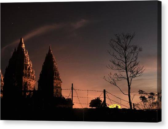 Sunset In Prambanan Canvas Print by Achmad Bachtiar