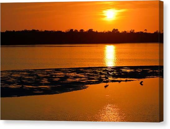 Sunset In Sanibel Canvas Print