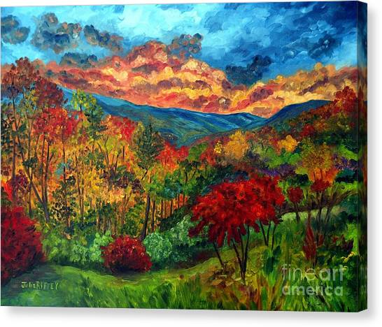 Sunset In Shenandoah Valley Canvas Print