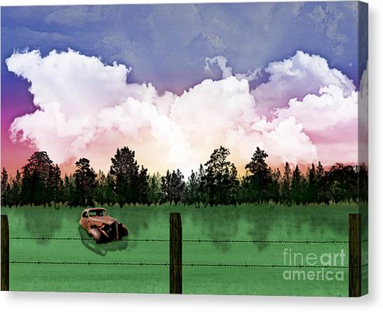 Sunset In The Boondocks Canvas Print