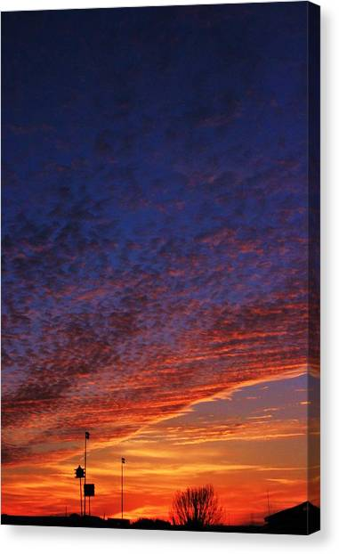 Sunset In The Clouds Canvas Print by David Pauley