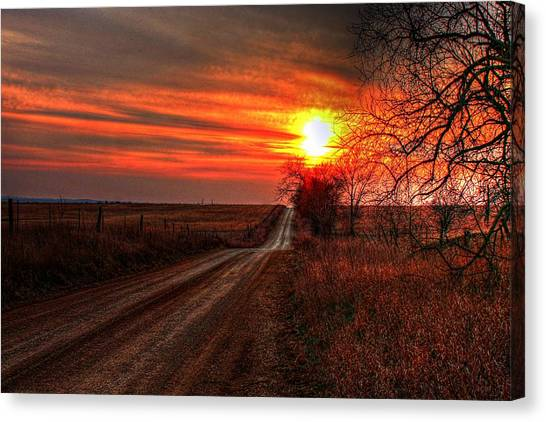 Sunset In The Country Canvas Print