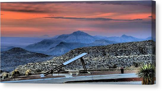 Sunset In The Guadalupes Canvas Print