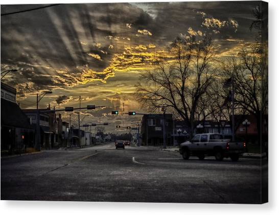 Sunset In The Heart Of Texas Canvas Print