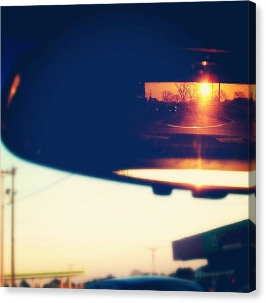 South Carolina Canvas Print - Sunset In The Rear View by Ashley Woods