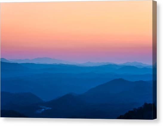 Sunset In The Smoky Mountains 1 Canvas Print