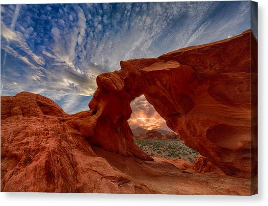 Mojave Desert Canvas Print - Sunset In The Valley Of Fire by Rick Berk