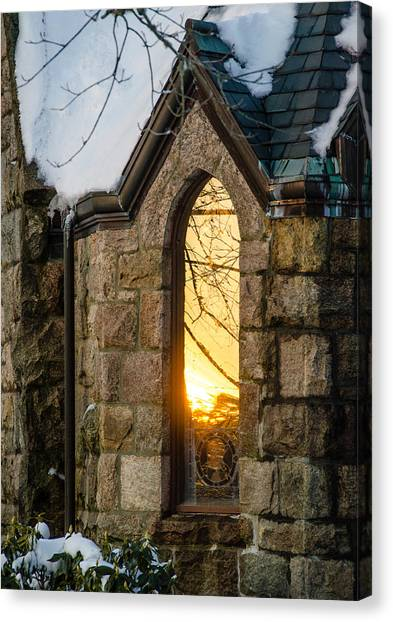 Sunset In The Window Canvas Print