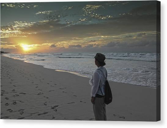 Sunset In Varadero Canvas Print