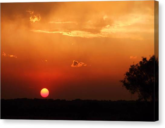 Sunset In West Texas Canvas Print