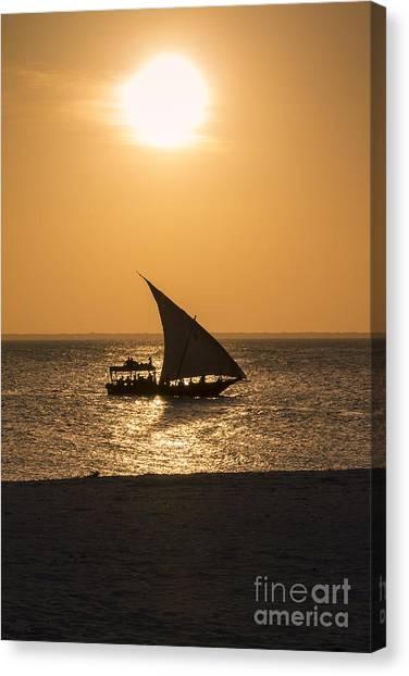 Sunset In Zanzibar Canvas Print by Pier Giorgio Mariani