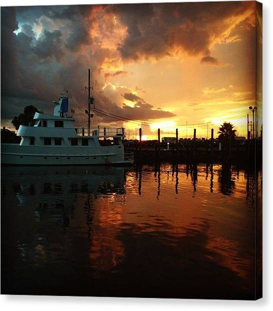 Yachts Canvas Print - Sunset Is Beautiful #iphone5 by Scott Pellegrin