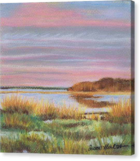 Sunset Jessups Neck Canvas Print by Susan Herbst