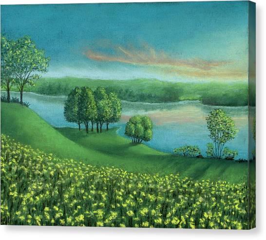 Sunset Lake A Canvas Print