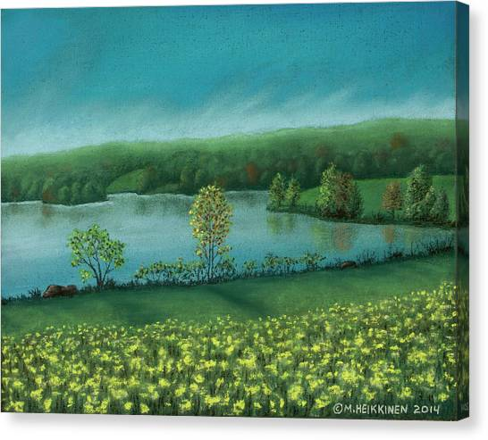 Sunset Lake C Canvas Print
