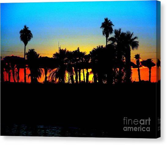 Sunset Lake Havasu Canvas Print by John Potts