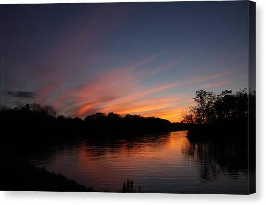 Sunset Lake Williams Canvas Print