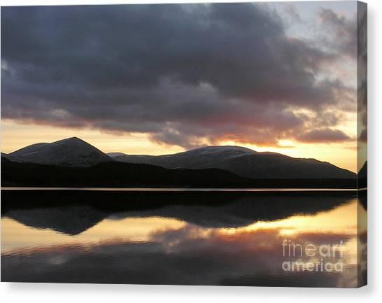 Sunset - Loch Morlich - Scotland Canvas Print