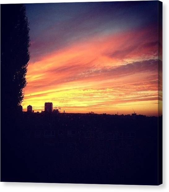 London Skyline Canvas Print - #sunset #london #skyline by Andrea Drudikova