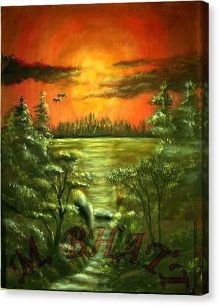 Sunset Canvas Print by M bhatt