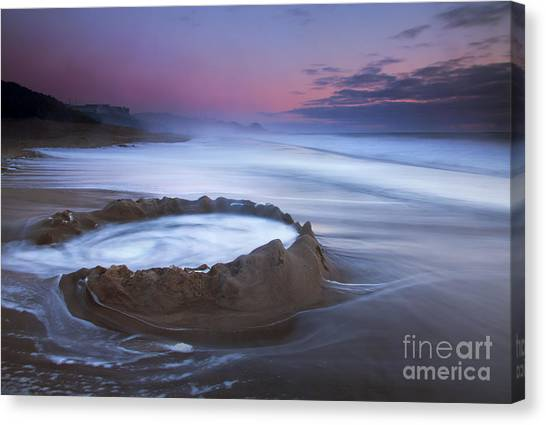 Sand Castles Canvas Print - Sunset Maelstrom by Mike  Dawson