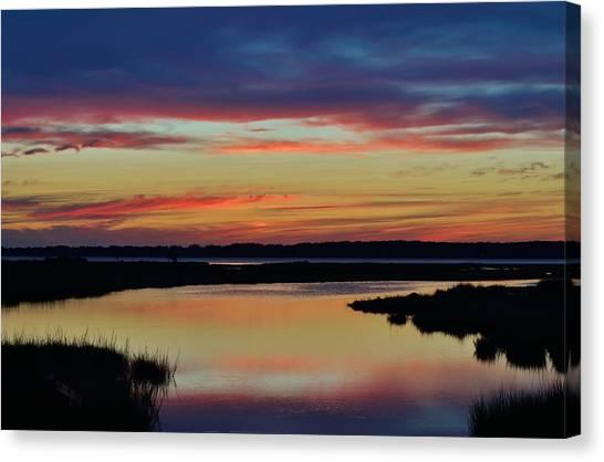 Sunset Marsh Canvas Print