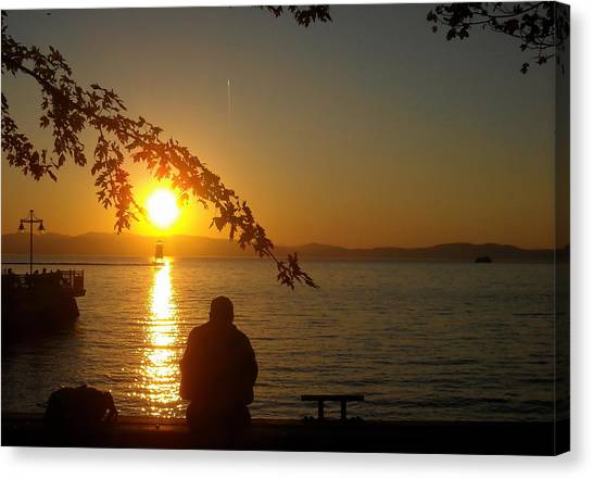 Sunset Meditation Canvas Print