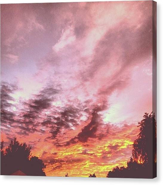 South African Canvas Print - #sunset by Elrika Steyn