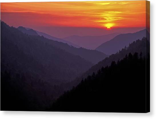 Sunset Morton Overlook Canvas Print