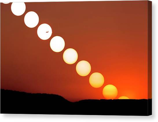 Sunset Multiple Exposure Canvas Print by Dr Juerg Alean