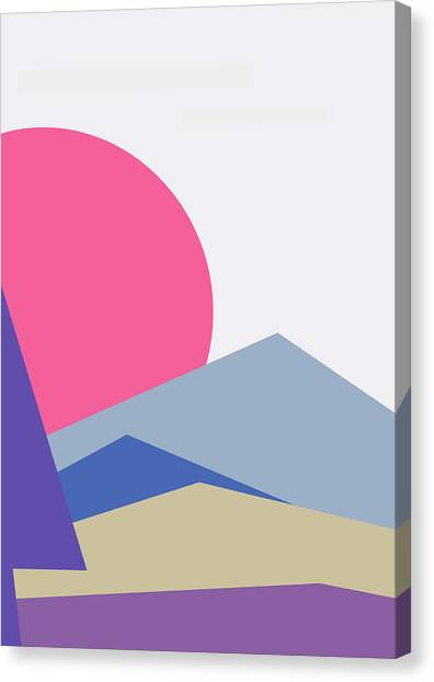 Sunset Nature Minimalistic Landscape Canvas Print