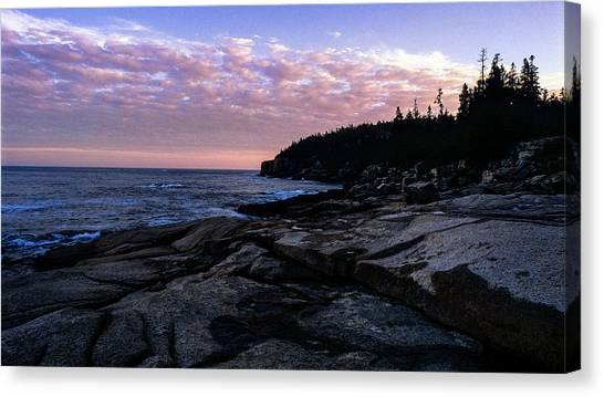 Sunset Near Otter Cliffs Canvas Print