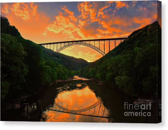 Sunset New River Gorge Canvas Print