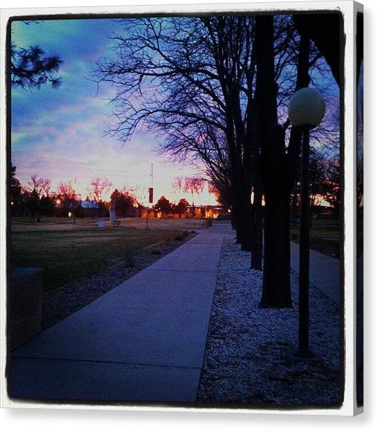 Dodge Canvas Print - #sunset #newmexico #enmu by Wendy Dodge