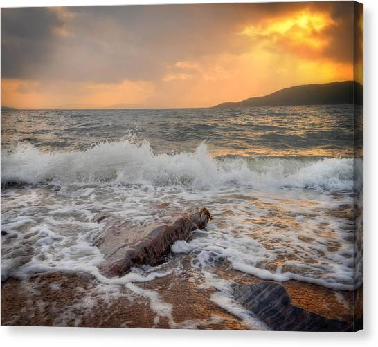Sunset Of Firth Of Lorn Canvas Print