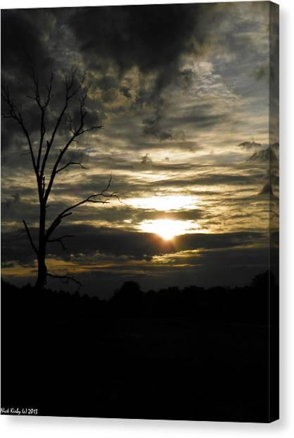 Sunset Of Life Canvas Print