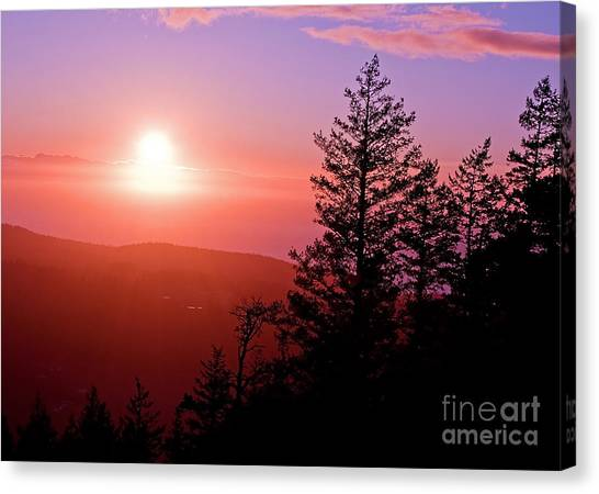 Sunset Off Mt Erie Washington Art Prints Canvas Print