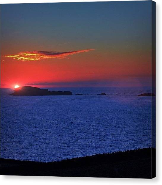 Ocean Sunsets Canvas Print - Sunset Off Western Shetland by Phil Tomlinson