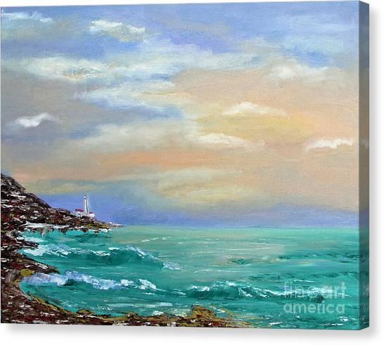 Sunset Canvas Print by Olesya Rossoshinskaya